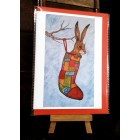 4 Stocking Hare cards