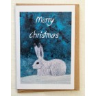 8 snow hare mini cards