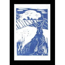 Field Hare Tea Towel