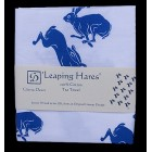 Leaping Hares Tea Towel (white)