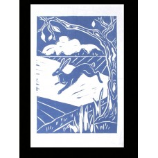 Night Hare Tea Towel