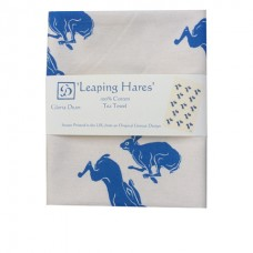 Leaping Hares Tea Towel (natural colour)