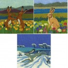 3 mixed Hare Cards Set 1