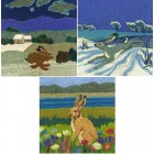 3 mixed Hare Cards Set 5