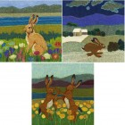 3 mixed Hare Cards Set 7