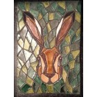Hare Mosaic Wall Plaque