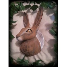 Large Hare Head Wall Plaque