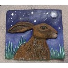 Sideways Hare Wall Plaque