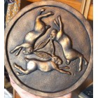 Triple Hare Wall Plaque