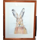Big Bunny Original Painting Framed