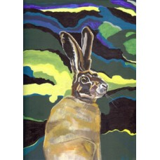 Hare in Undergrowth Original Painting & Mount