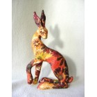 Autumn Daisy Hare resin sculpture