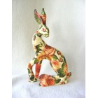 English Rose Hare resin sculpture