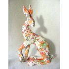 Floral Hare 1 resin sculpture