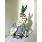 Floral Hare 2 resin sculpture