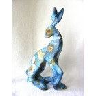 Floral Hare 4 resin sculpture
