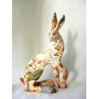 Meadow Hare resin sculpture