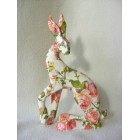 Pink Rose Hare resin sculpture