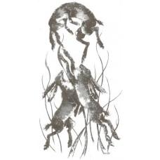 Long Grass Hares print, mounted