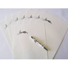 Hare Writing paper, Hare bookmark, and envelope