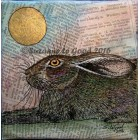 The Literate Hare - original painting on canvas