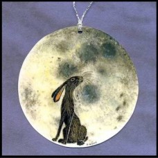 Laminated Moon-Gazing Hare Signs