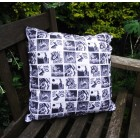 Hare fabric cushion cover